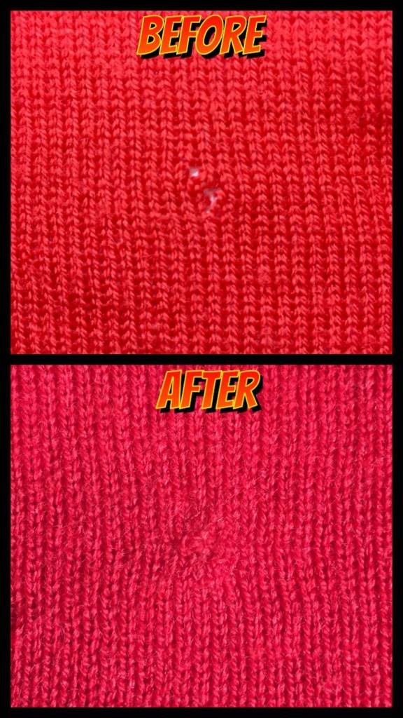 セーター虫穴修理